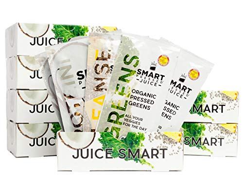 Smart Pressed Juice 7-Day Organic Juice Cleanse | Healthy Weight Loss & Detox Program | Vegan Vanilla Protein, Cold-Pressed Green Juice, Beets Juice & Pineapple Chia Cleanse | High Fiber & Vegan