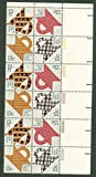 US 1978 Postal Stamps, US Folk Art: Quilts, S#1745-48, PB of 16 13 Cent Stamps