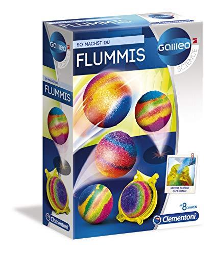 Clementoni 59118 Galileo Science – Flummis, Spielzeug für Kinder ab 8 Jahren, Herstellen von hüpfenden Bällen & bunten Flummis, aufregendes Experimentierset für kleine Forscher