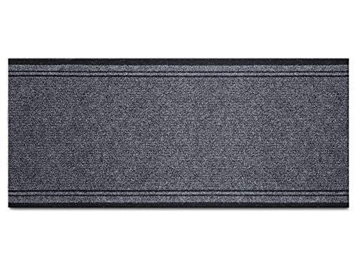 Schmutzfang-Läufer Sauberlauf Meterware MALAGA – Grau, 66 x 200 cm, Rutschfester, Robuster Küchenläufer, Küchenvorleger, Schmutzfangteppich, Gangläufer, Schmutzfangmatte