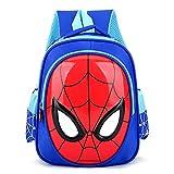 MYYLY Sac À Dos Spiderman Kid Gift Bag Sacs Préscolaires pour Enfants Apprendre Lire Cartable Home Coming Satchel Résistant l'eau Durable,Blue-25X31X12CM