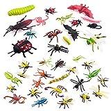 Insectos y Bichos de Plástico de 37 Piezas para Niños,Insecto Colorido para La Educación / Juguetes de Halloween / Fiestas Temáticas / Regalos de Cumpleaños (Entrega Aleatoria)