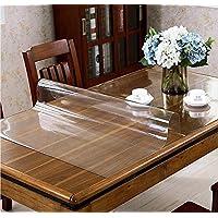 Protector de mesa transparente de PVC, lámina de plástico transparente de 1,8 mm de grosor, apto para alimentos, protector de mesa transparente