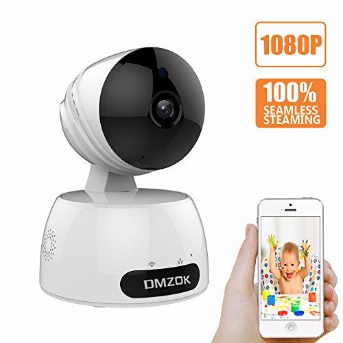 DMZOK WiFi Camera, ProHD 1080P Wireless Security Camera, Nanny Cam, WiFi IP Camera (White 1080P)