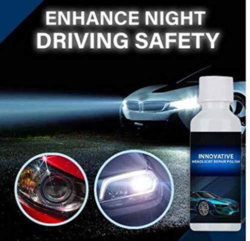 Keeplus Scheinwerfer-Erneuerungspolitur, Auto-Rücklicht Dauerhafte Wiederherstellungsflüssigkeit 20 ml Auto-Scheinwerfer-Restaurierungs-Reparaturbeschichtungssatz für Auto-Scheinwerfer-Rücklicht