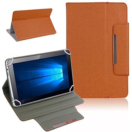 UC-Express Telekom Puls Tablet Tasche Hülle Schutzhülle Hülle Cover Bag NAUCI, Farben:Braun