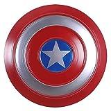 Capitán América Escudo Cosplay Accesorios de superhéroe Accesorios de Disfraces Retro Bar de Halloween Decoraciones para Colgar en la Pared para Adultos Niños Juguete de Juego de Roles