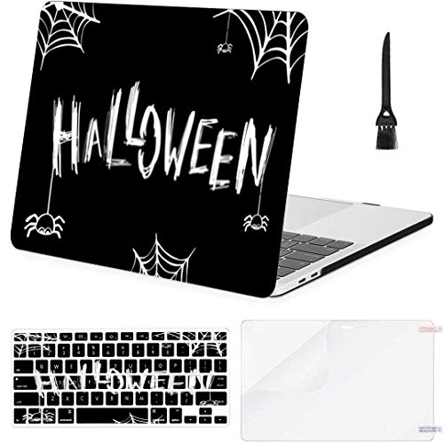 MacBook Pro13 inch Retina (2012-2015) with Retina Display,1502,A1425 Case Halloween Card Banner Lettering Design Vector MacBook Case with Keyboard Cover Screen Protector Cleaning Brush
