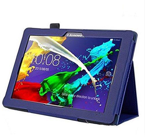 Lobwerk Hülle für Lenovo Tab 2 A10-70F 10.1 Zoll Schutzhülle Etui Tablet Tasche Smart Cover A10-70L (Blau)