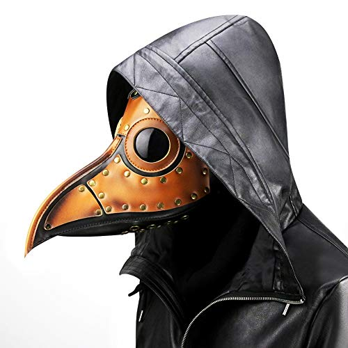 Rcsinway Halloween gespenstisch Horror Rollenspiele Steampunk Plague Beak Maske Halloween Props (Color : Orange)