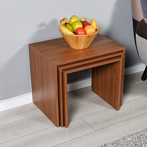 Niche Nesting Tables, Wood, Walnut, Set of 3