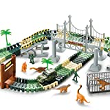YICTEK Boys Toys Girls for 4 5 6 7 Years Old, Dinosaur Race Track Car Train Toys for Kids