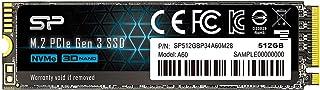 シリコンパワー SSD 512GB 3D TLC NAND M.2 2280 PCIe3.0×4 NVMe1.3 P34A60シリーズ 5年保証 SP512GBP34A60M28