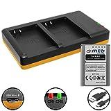 Batterie + Double Chargeur (USB) pour BLN-1 BLN1 / Olympus Pen E-P5 / Om-D E-M1, E-M5 (Mark I, II) / Pen-F - Cable Micro-USB Inclus