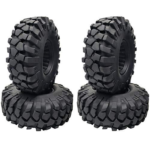 ACAMPTAR 4 StüCk 1,9 Zoll Gummi Reifen 1,9 Radreifen 108X40MM für 1/10 RC Crawler TRX4 Axial SCX10 III AXI03007 90046