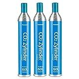 Homewit CO2 Zylinder für bis zu 60 L Sprudelwasser, Erstbefüllt in Deutschland, Füllung 425g, geeignet für SodaStream Wassersprudler, Aarke und MySodaPop usw.