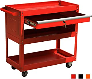 metal utility cart with drawers