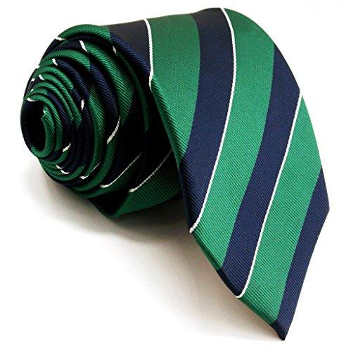 Shlax&Wing Neu Geschäftsanzug Herren Seide Krawatte Grün Blau Streifen