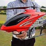 Kikioo Helicóptero grande al aire libre los 85CM RC con giroscopio LED gigante Radio Control Remoto 3.5 canales helicóptero Boy avión del juguete de los niños Drone Principiante Fácil aprender Operaci