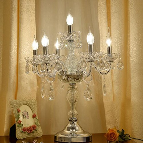 Briskaari Shop- Kristall Lampe im Wohnzimmer europäischen Villa Dekoration Lampen warme Schlafzimmer Nacht amerikanische Luxus Mode Kerze Tischlampe Tisch- & Nachttischlampen