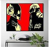 tgbhujk Daft Punk Helm Maske Musik Poster Und Print Leinwand Kunst Malerei Wandbilder Für Wohnzimmer Dekoration Wohnkultur 40 * 60 cm Ohne gerahmte