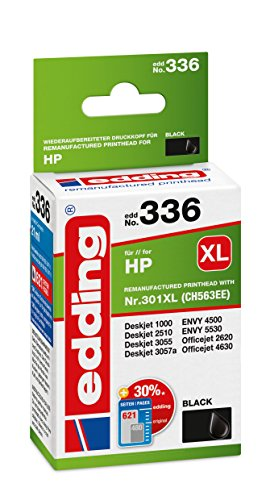 edding Tintenpatrone EDD-336 ersetzt HP 301XL (CH563EE) - Schwarz - 21ml