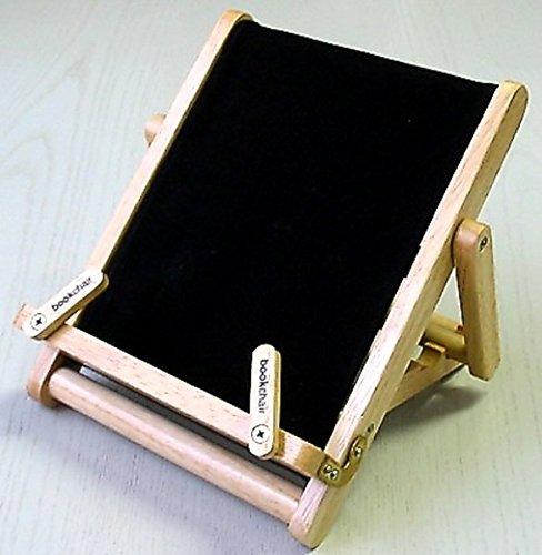 Bookchair Medium Schwarz - Buchständer Tablethalter aus Holz: Leseständer für Bücher, E-Reader und Tablets