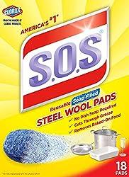 SOS Steel Wool Soap Pads, 18 Count