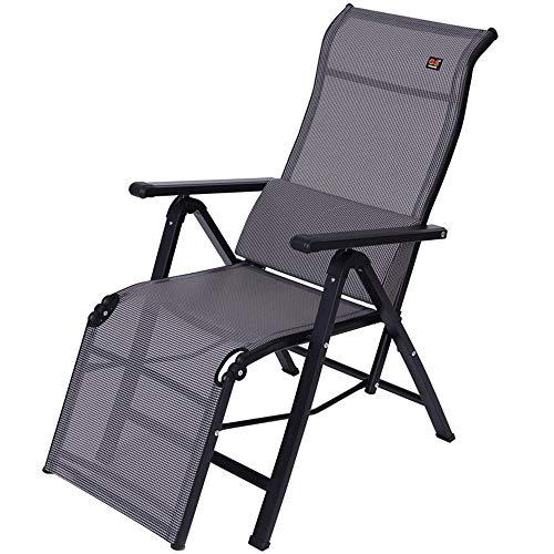 CFSAFAA Deck Chair Balcony Casual Lounge Chairs Folding Chair Office Siesta Chair Armchair Sun Loungers Garden Chairs Summer Beach Chairs Camping Chairs Reclining Chair