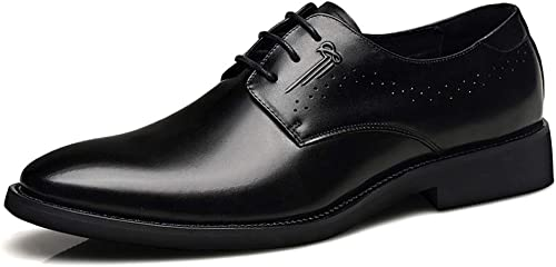 Les Hommes astucieux Mariage Formelle Robe Oxfords Cuir Noir Chaussures à Lacets Derby Brun Affaires Office Travail Bout Pointu Chaussures Faible-Top