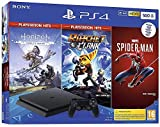 Consola PS4 Slim - 500 GB Negro Hits Pack HZD/Ratchet/Spiderman