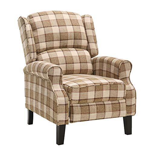 Liegestuhl verstellbarer Kamin Liegestuhl Sofastuhl Relax Liegestuhl Ohrensessel Gelegentlicher Sessel Sofasitz Relax Liegestuhl für Lounge Wohnzimmer Esszimmer Gelb