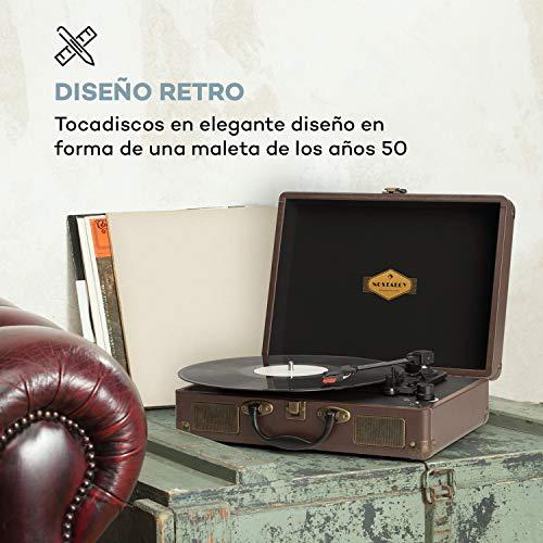 auna Peggy Sue - Tocadiscos con Altavoces , Gramola para Discos de ...