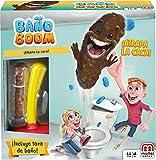 Mattel Games - Baño Boom, Atrapa la Caca, Juego de mesa infantil (FWW30), versiones surtidas
