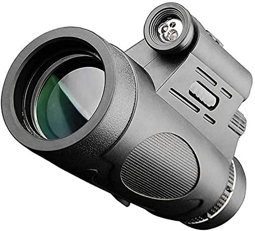 ZNMY Telescopio HD High Power Bak4 Monocular Impermeable Práctico Ajustable, para Interior/Exterior, para Observación de Aves Senderismo Camping Turismo