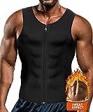 Yokald Faja Reductora Adelgazante Hombre Neopreno Camiseta Reductora Compresión de Sauna Chaleco para Desarrollo Muscular Pérdida de Peso con Quema Grasa Deportivo (Negro, XL)
