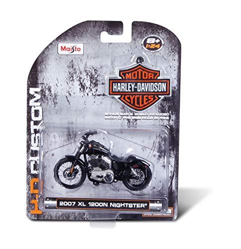 MAISTO Harley Davidson 1:24 / Moto sur Carte Blister
