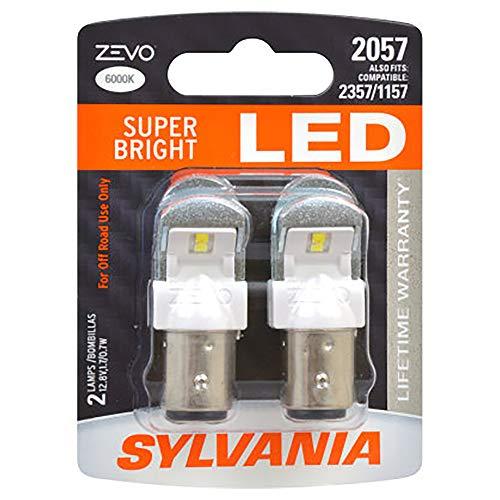 SYLVANIA ZEVO 2057 White LED Bulb, (Contains 2 Bulbs)