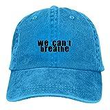 Lsjuee We Can 't Breathe 4 Gorras de béisbol Ajustables Sombreros de Mezclilla Sombrero de Vaquero R...