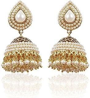 Shining Diva Stylish Traditional Jhumki Earrings For Women & Girls