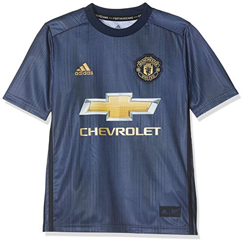 adidas 18/19 Manchester United 3rd Camiseta, Niños, Azul (Maruni/maosno/dormat), 164