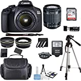 Canon EOS 2000D Rebel T7 Kit with EF-S 18-55mm f/3.5-5.6 III Lens + Accessory Bundle + Inspire Digital Deals Cloth
