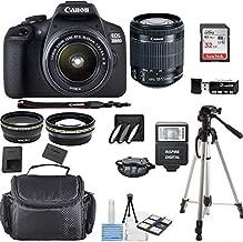 Canon EOS 2000D Rebel T7 Kit with EF-S 18-55mm f/3.5-5.6 III Lens + Accessory Bundle + Inspire Digital Deals Cloth