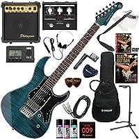 YAMAHA エレキギター 初心者 入門 人気のパシフィカ 美しいフレイムメイプルトップ マルチエフェクターも入ってる!最強の20点セット PACIFICA612VIIFM/IDB(インディゴブルー)