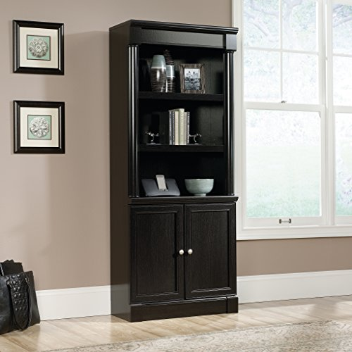 Ameriwood Home Aaron Lane Bookcase with Sliding Glass Doors, White White