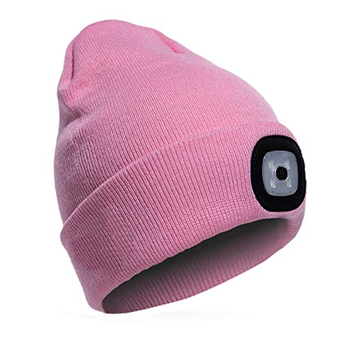 TAGVO USB Rechargeable LED Beanie Cap, Lighting and Flashing Alarm Modes 8...