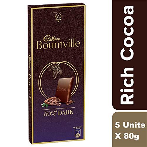 Cadbury Celebrations Rich Dry Fruit Chocolate Gift Box, 177 g & Cadbury Bournville Rich Cocoa Dark Chocolate Bar, 80 gm (Pack of 5) 6