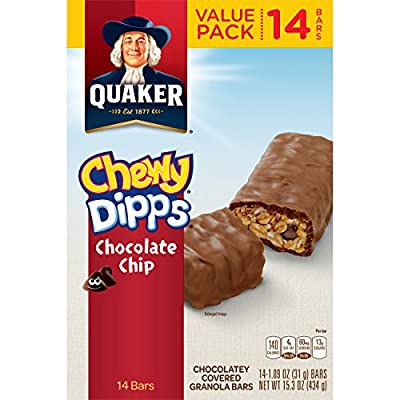 Quaker Cookies N Cream Chewy Dipps Granola Bars
