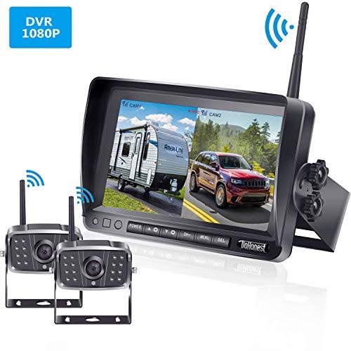FHD 1080P Digital Wireless Dual Backup Camera 7'' DVR Monitor Kit Split Screen for...