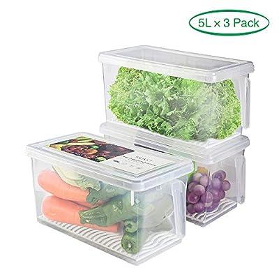 Produce Saver Refrigerator Organizer Bins for F...